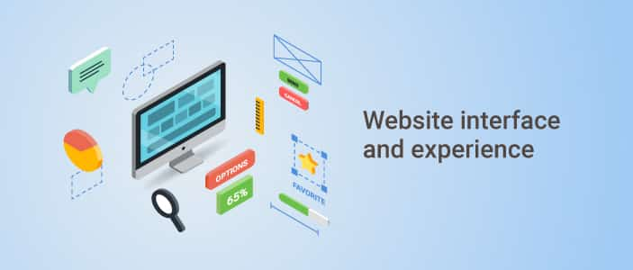 website interface and experience